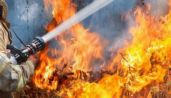 В Кагуле произошел крупный пожар: горела сухая растительность