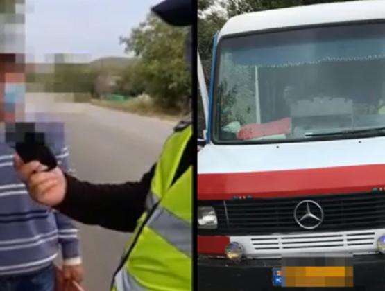 В Кагуле задержали пьяного водителя микроавтобуса: он вез 14 пассажиров /ВИДЕО