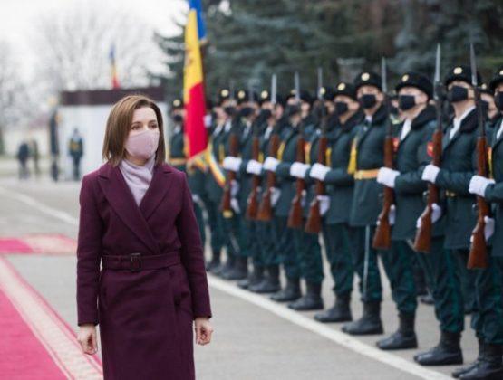 Президент Республики Молдова Майя Санду приняла участие в церемонии делегирования контингента Национальной армии в составе миссии KFOR в Косово