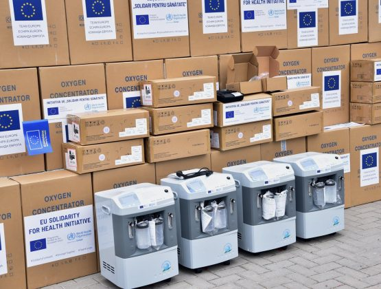 Партия медицинского оборудования, подаренного ЕС, ВОЗ и правительством Германии, прибыла в Молдову