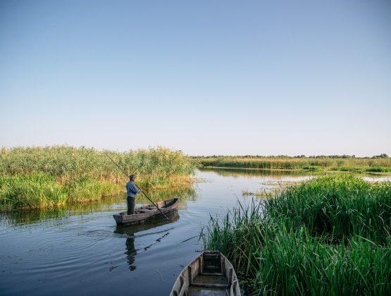 Из озера Белеу, входящего в заповедник «Прутул-де-Жос», достали три километра браконьерских сетей
