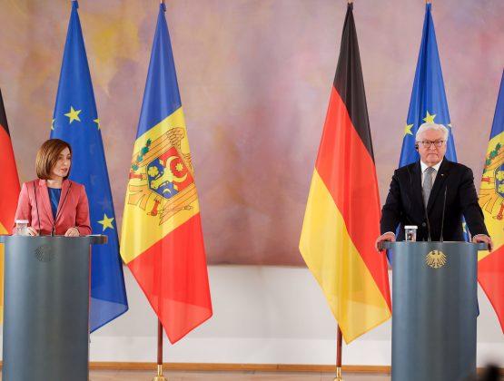 """Президент Германий """"Смелый реформаторский курс, который вы выбрали, подчеркивает, что отношения между Германией и  Молдовой могут стать еще более тесными»"""