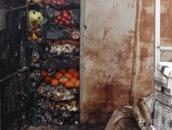 В Комрате на рынке произошел пожар: сгорели три киоска
