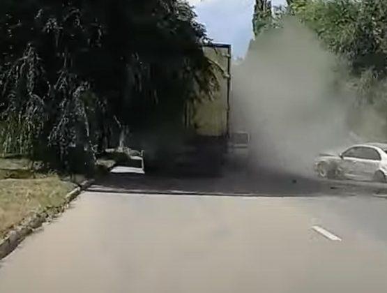 Как произошла вчерашняя авария в Кагуле / ВИДЕО